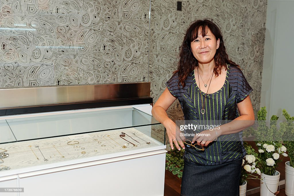 Michelle Chang attends JewelMint Celebrates The Launch Of Collective And Previews New Collections From Cher Coulter And CC Skye at on July 18, 2013 in Los Angeles, California.