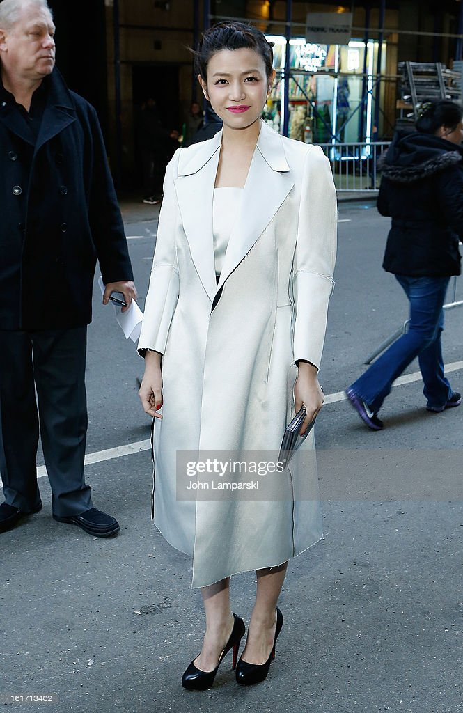 Michelle Chen attends Calvin Klein Collection during Fall 2013 Mercedes-Benz Fashion Week on February 14, 2013 in New York City.