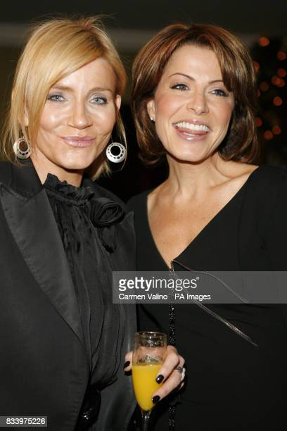 Michelle Collins amp Natasha Kaplinsky arrive at the Women in Film and Television Awards at The Hilton Hotel in central London