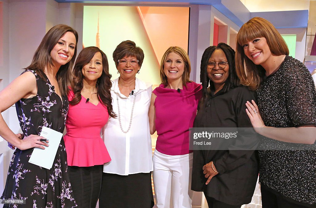 THE VIEW Michelle Collins and Fusion's Alicia Menendez guest cohost Guests include White House Senior Advisor Valerie Jarrett Derek Hough and Nastia...