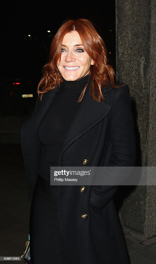 Michelle Collins attends the Late Late Show on February 5, 2016 in Dublin, Ireland.