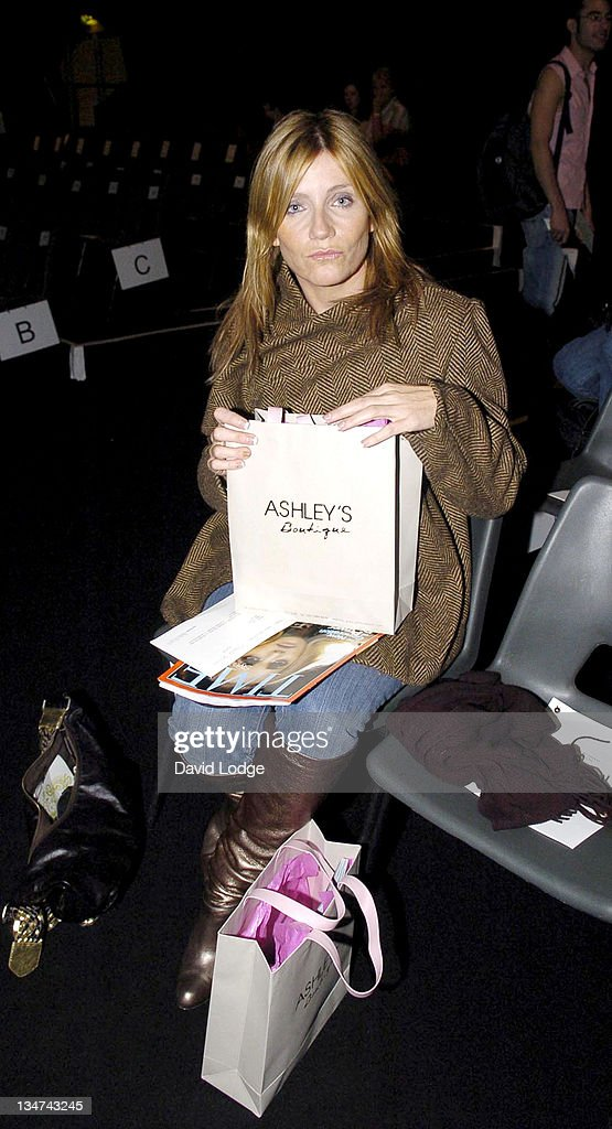 Michelle Collins during London Fashion Week Spring/Summer 2006 - Ashley Isham - Front Row at BFC Tent in London, Great Britain.