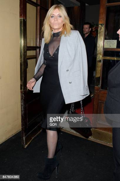 Michelle Collins sighting at the Waldorf hotel on September 15 2017 in London England