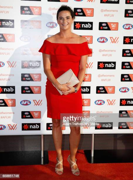 Michelle Cowan Senior Coach of the Dockers arrives during the The W Awards at the Peninsula on March 28 2017 in Melbourne Australia