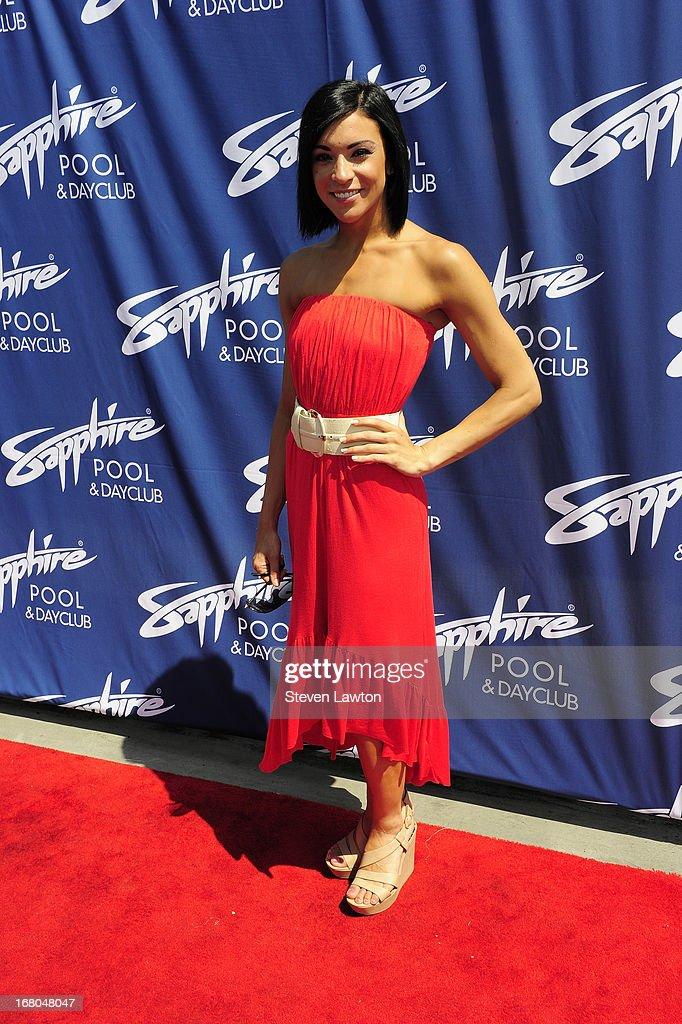 Michelle DiPrizzi arrives at the Sapphire Pool & Day Club grand opening party on May 4, 2013 in Las Vegas, Nevada.