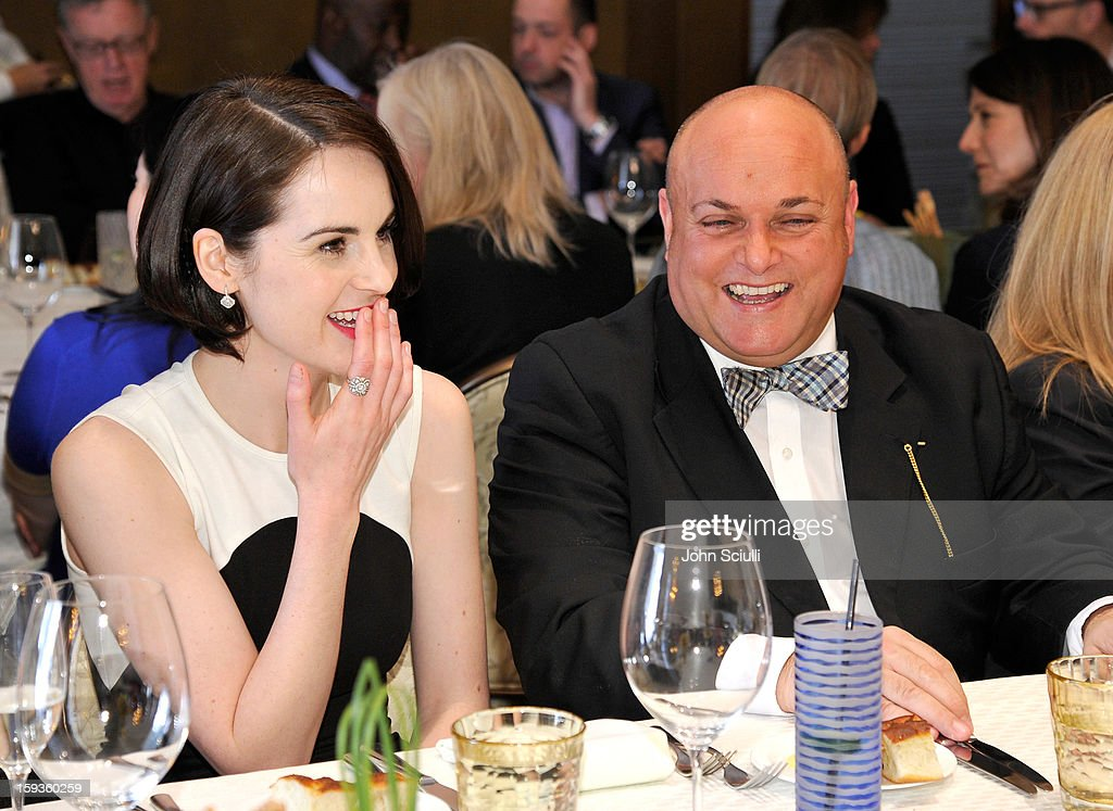 <a gi-track='captionPersonalityLinkClicked' href=/galleries/search?phrase=Michelle+Dockery&family=editorial&specificpeople=4047702 ng-click='$event.stopPropagation()'>Michelle Dockery</a> and Nigel Daly attend a Golden Globe lunch hosted by BritWeek chairman Bob Peirce honoring Julian Fellowes, Gareth Neame and <a gi-track='captionPersonalityLinkClicked' href=/galleries/search?phrase=Michelle+Dockery&family=editorial&specificpeople=4047702 ng-click='$event.stopPropagation()'>Michelle Dockery</a> at Four Seasons Hotel Los Angeles at Beverly Hills on January 12, 2013 in Beverly Hills, California.