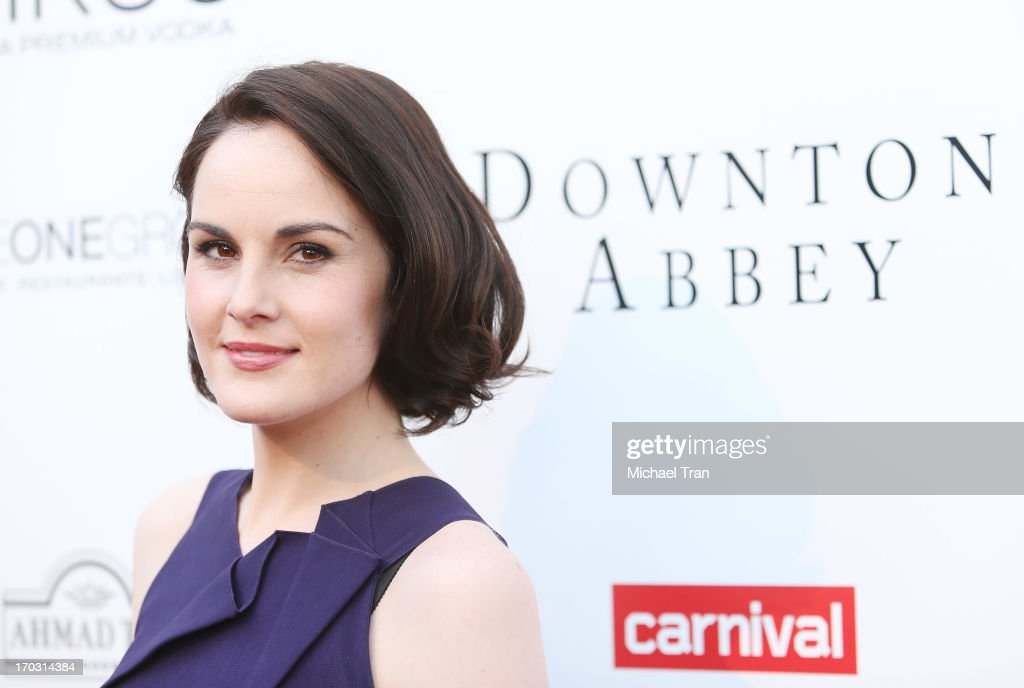 <a gi-track='captionPersonalityLinkClicked' href=/galleries/search?phrase=Michelle+Dockery&family=editorial&specificpeople=4047702 ng-click='$event.stopPropagation()'>Michelle Dockery</a> arrives at an evening with 'Downton Abbey' held at Leonard H. Goldenson Theatre on June 10, 2013 in North Hollywood, California.