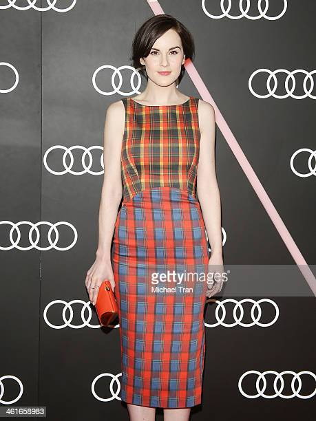 Michelle Dockery arrives at the Audi Golden Globe 2014 kick off cocktail party held at Cecconi's Restaurant on January 9 2014 in Los Angeles...