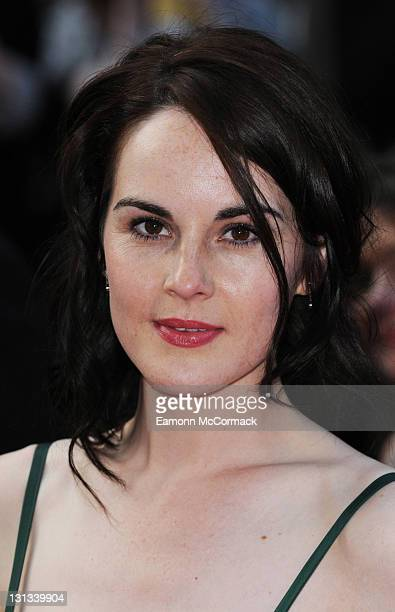 Michelle Dockery arrives on the red carpet for The Philips British Academy Television Awards at Grosvenor House on May 22 2011 in London England
