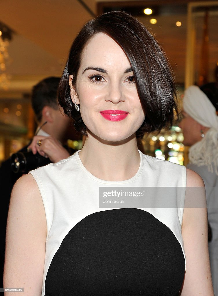 Michelle Dockery attends a Golden Globe lunch hosted by BritWeek chairman Bob Peirce honoring Julian Fellowes, Gareth Neame and Michelle Dockery at Four Seasons Hotel Los Angeles at Beverly Hills on January 12, 2013 in Beverly Hills, California.