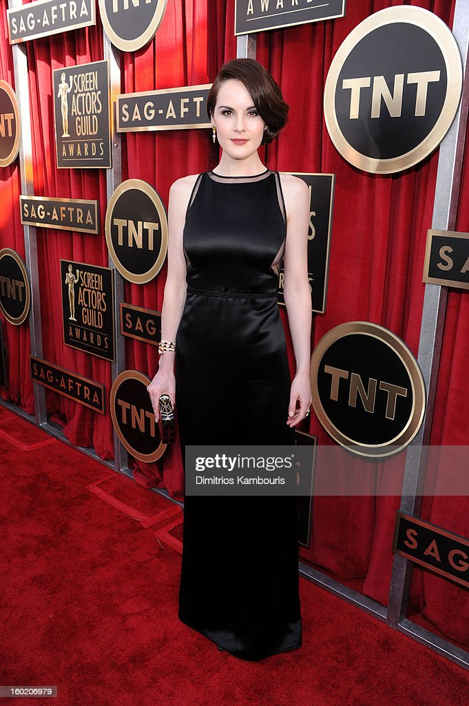 Michelle Dockery attends the 19th Annual Screen Actors Guild Awards at The Shrine Auditorium on January 27, 2013 in Los Angeles, California. (Photo by Dimitrios Kambouris/WireImage) 23116_013_0625.jpg