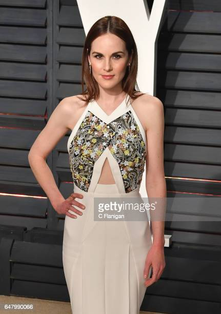 Michelle Dockery attends the 2017 Vanity Fair Oscar Party hosted by Graydon Carter at Wallis Annenberg Center for the Performing Arts on February 26...