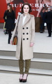 Michelle Dockery attends the Burberry Prorsum show during London Fashion Week Fall/Winter 2013/14 at on February 18 2013 in London England
