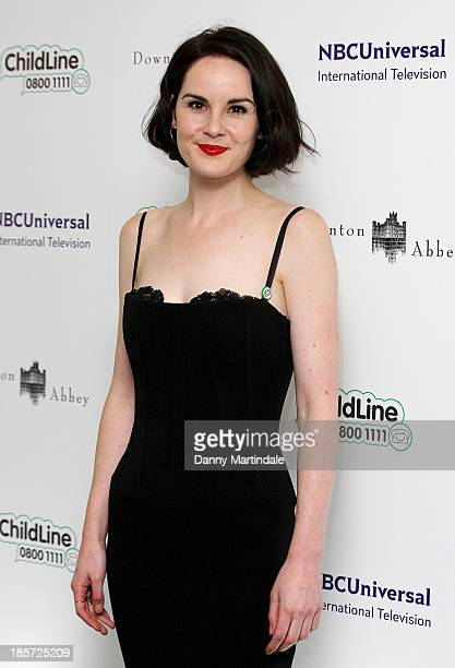 Michelle Dockery attends The Downton Abbey Childline ball at The Savoy Hotel on October 24 2013 in London England
