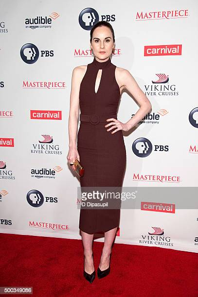 Michelle Dockery attends the 'Downton Abbey' series season six premiere at the Millenium Hotel on December 7 2015 in New York City
