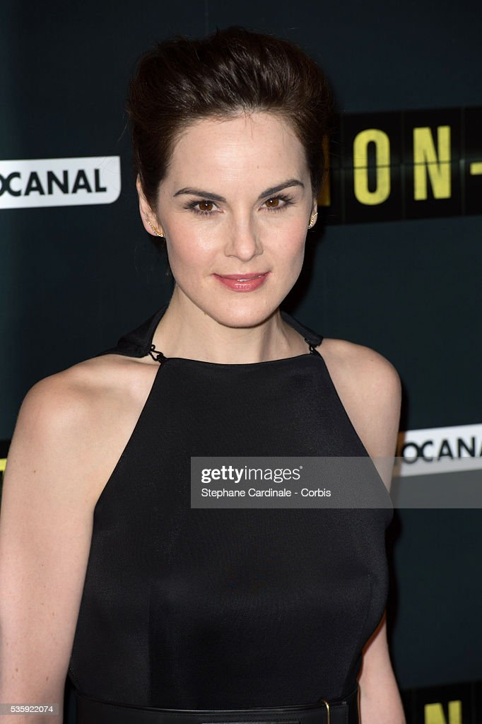 Michelle Dockery attends the 'Non Stop' Paris Premiere at Cinema Gaumont Opera, in Paris.