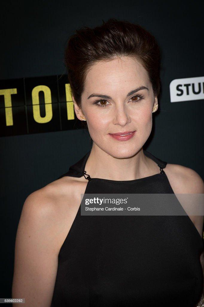 Michelle Dockery attends the 'Non Stop' Paris Premiere at Cinema Gaumont Opera, in Paris.