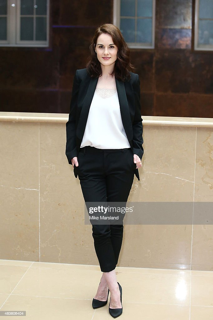 Michelle Dockery attends the press launch of 'Downton Abbey' at May Fair Hotel on August 13 2015 in London England