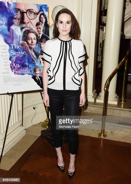 Michelle Dockery attends the 'The Sense of an Ending' Lunch Q and A at The Lotus Club on March 7 2017 in New York City