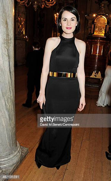 Michelle Dockery attends the Winter Whites Gala in aid of Centrepoint at Kensington Palace on November 26 2013 in London England