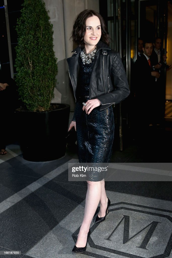 <a gi-track='captionPersonalityLinkClicked' href=/galleries/search?phrase=Michelle+Dockery&family=editorial&specificpeople=4047702 ng-click='$event.stopPropagation()'>Michelle Dockery</a> departs the Mark Hotel for the 'PUNK: Chaos To Couture' Costume Institute Gala at the Metropolitan Museum of Art on May 6, 2013 in New York City.