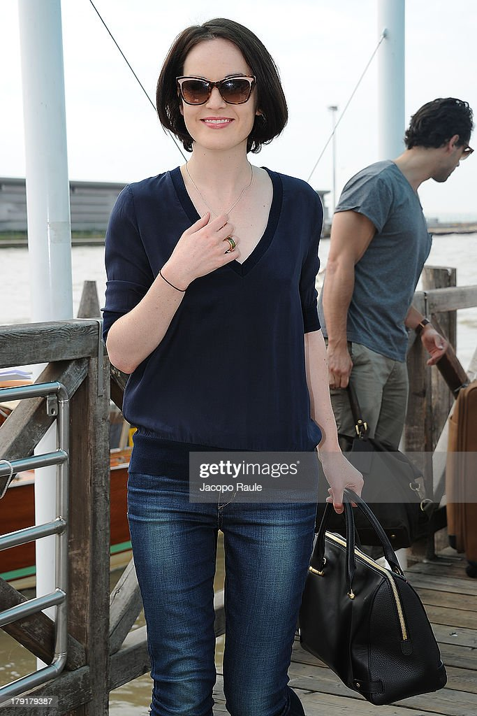 <a gi-track='captionPersonalityLinkClicked' href=/galleries/search?phrase=Michelle+Dockery&family=editorial&specificpeople=4047702 ng-click='$event.stopPropagation()'>Michelle Dockery</a> is seen leaving the Venice Airport during The 70th Venice International Film Festival on September 1, 2013 in Venice, Italy.