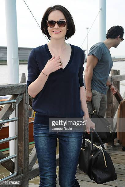Michelle Dockery is seen leaving the Venice Airport during The 70th Venice International Film Festival on September 1 2013 in Venice Italy