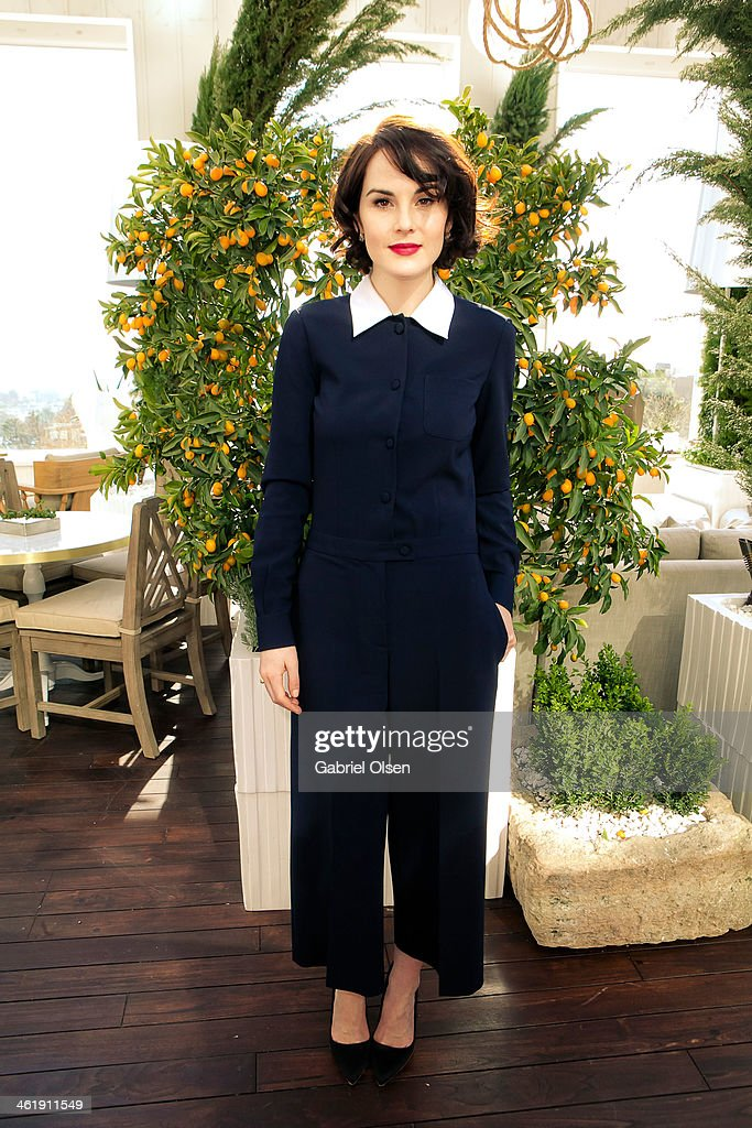 <a gi-track='captionPersonalityLinkClicked' href=/galleries/search?phrase=Michelle+Dockery&family=editorial&specificpeople=4047702 ng-click='$event.stopPropagation()'>Michelle Dockery</a> joins DuJour Magazine's Jason Binn with editors Nicole Vecchiarelli & Keith Pollock as they celebrate The Great Performances issue featuring '12 Years A Slave' Golden Globe Nominee Lupita Nyong'o at Herringbone, Mondrian LA on January 11, 2014 in Beverly Hills, California.