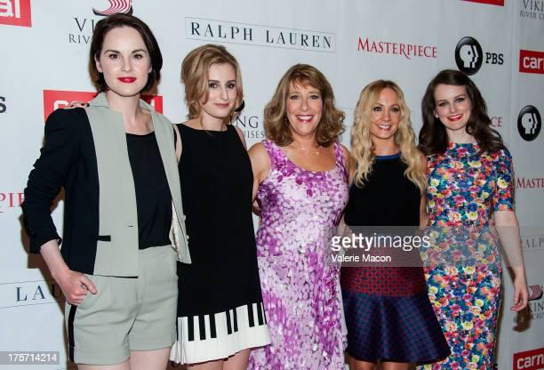 Michelle Dockery Laura Carmichael Phyllis Logan Joanne Froggatt and Sophie McShera attends the PBS History's 'Downton Abbey' Season 4 Photo Call at...