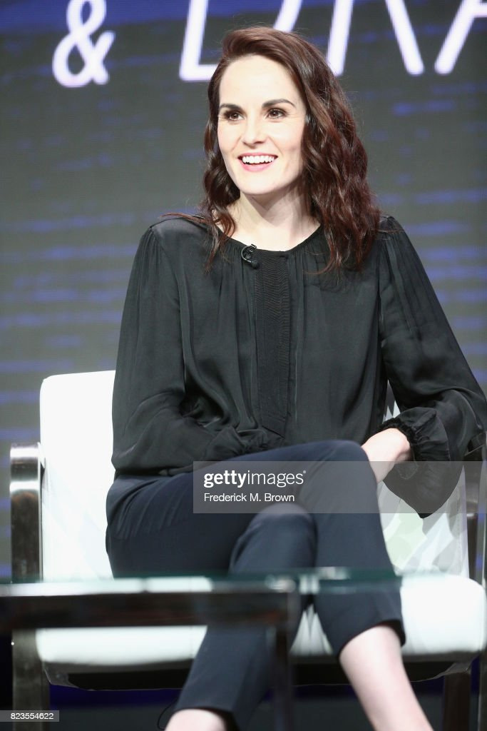Michelle Dockery of 'TNT & TBS's Leading Women of Comedy and Drama' speaks onstage during the Turner Networks portion of the 2017 Summer Television Critics Association Press Tour at The Beverly Hilton Hotel on July 27, 2017 in Beverly Hills, California.