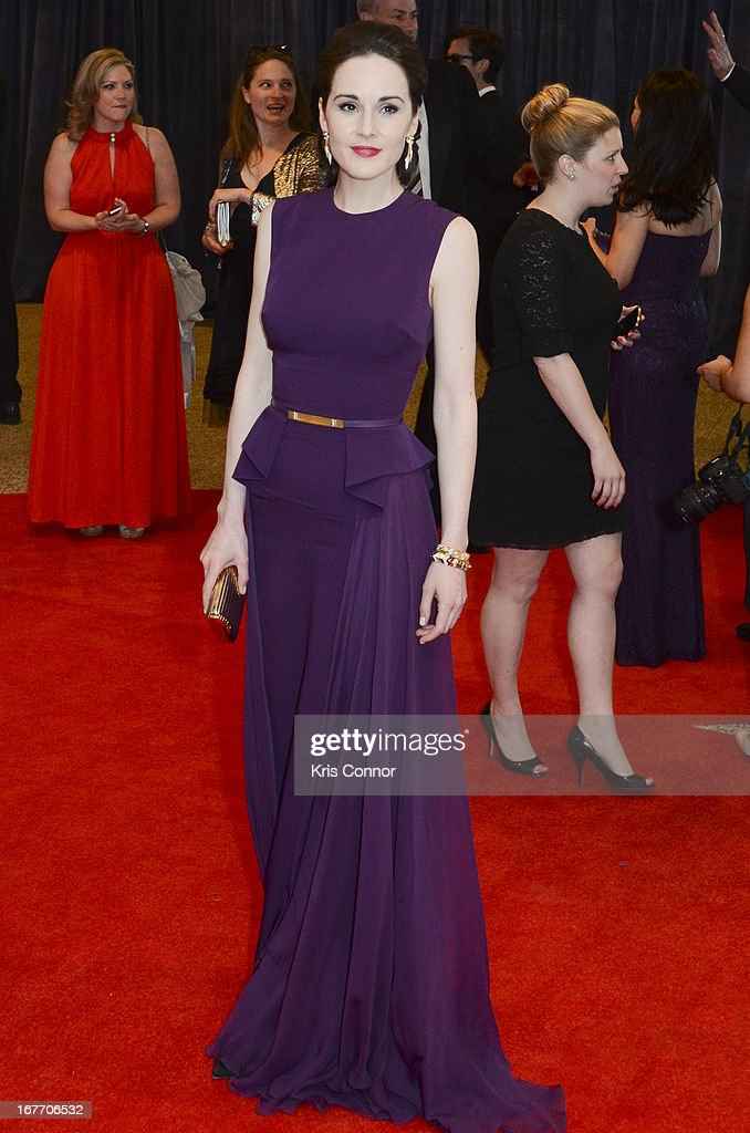 Michelle Dockery poses on the red carpet during the White House Correspondents' Association Dinner at the Washington Hilton on April 27, 2013 in Washington, DC.