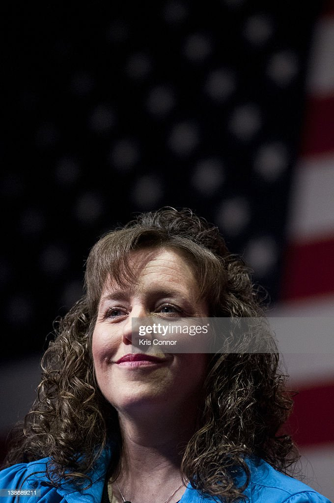Michelle Duggar speaks during a panel discussion before promoting the book 'A Love That Multiplies' during the Conservative Political Action...