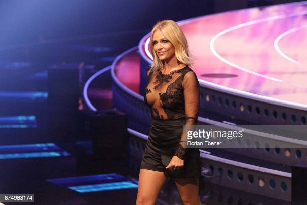 Michelle during the fourth event show and semi finals of the tv competition 'Deutschland sucht den Superstar' at Coloneum on April 29 2017 in Cologne...
