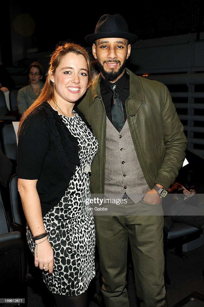 Michelle Edgar and <a gi-track='captionPersonalityLinkClicked' href=/galleries/search?phrase=Swizz+Beatz&family=editorial&specificpeople=567154 ng-click='$event.stopPropagation()'>Swizz Beatz</a> attend The Intrepid Museum's 'Power Of One' Presents: <a gi-track='captionPersonalityLinkClicked' href=/galleries/search?phrase=Swizz+Beatz&family=editorial&specificpeople=567154 ng-click='$event.stopPropagation()'>Swizz Beatz</a> at Intrepid Sea-Air-Space Museum on January 17, 2013 in New York City.