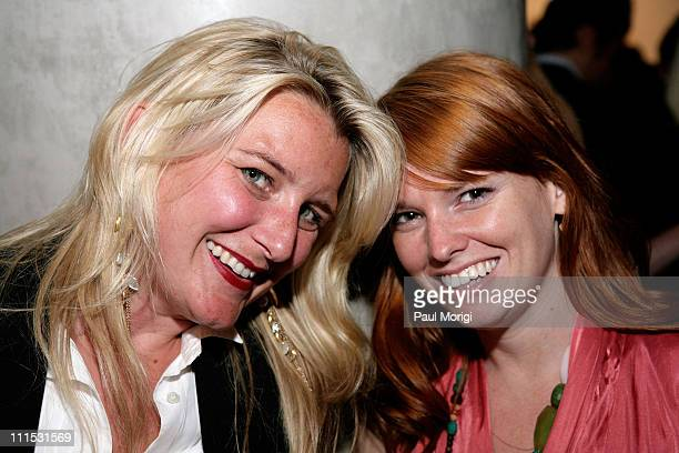 Michelle Elzay and Tahra Collins attend La Mer Celebrates 'Liquid Light' By Fabien Baron at The Glass Houses on September 10 2008 in New York City