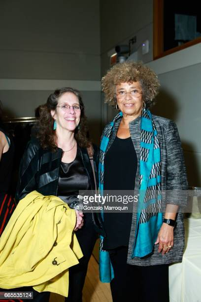 Michelle Fine and Angela Davis attend the Groundswell at 20 with Angela Davis at CUNY Graduate Center on April 6 2017 in New York City