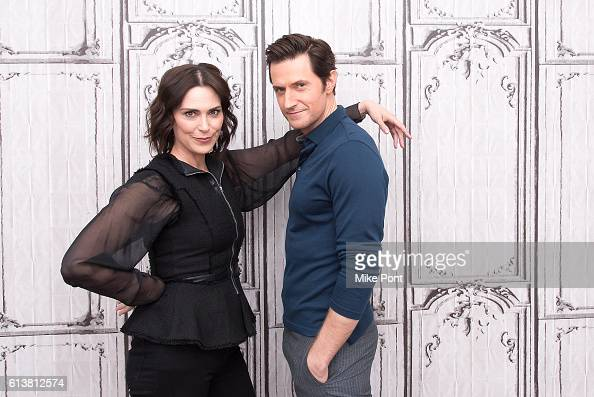Michelle Forbes and Richard Armitage attend the Build Series to discuss 'Berlin Station' at AOL HQ on October 10 2016 in New York City
