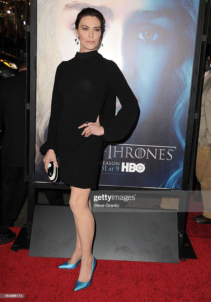 Michelle Forbes arrives at the HBO's 'Game Of Thrones' Season 3 - Los Angeles Premiere at the TCL Chinese Theatre on March 18, 2013 in Hollywood, California.