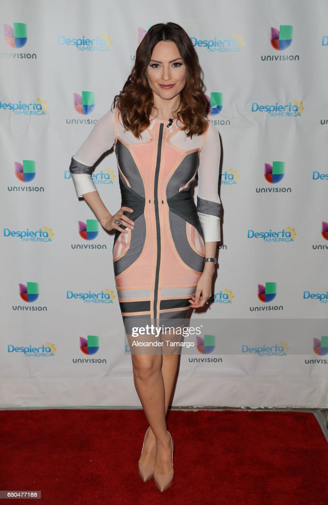 Michelle Galvan is seen on the set of 'Despierta America' at Univision Studios on March 9, 2017 in Miami, Florida.