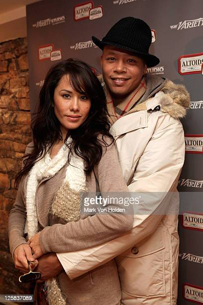 Michelle Ghent and Terrence Howard attend the Variety Studio at Sundance on January 21 2011 in Park City Utah