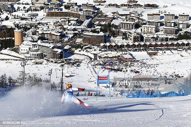 Michelle Gisin of Switzerland in action during the Audi FIS Alpine Ski World Cup Women's Giant Slalom on December 10 2016 in Sestriere Italy