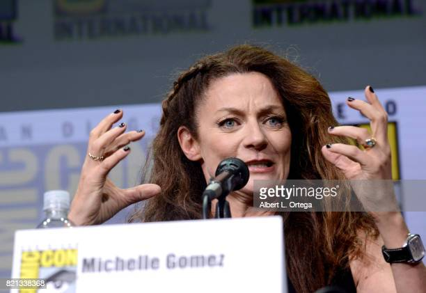 Michelle Gomez at 'Doctor Who' BBC America official panel during ComicCon International 2017 at San Diego Convention Center on July 23 2017 in San...