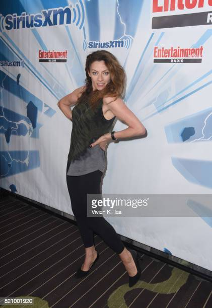 Michelle Gomez attends SiriusXM's Entertainment Weekly Radio Channel Broadcasts From Comic Con 2017 at Hard Rock Hotel San Diego on July 22 2017 in...