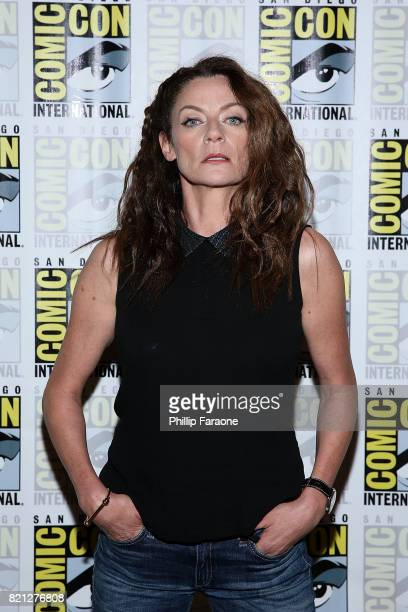 Michelle Gomez attends the Doctor Who press line at ComicCon International 2017 on July 23 2017 in San Diego California