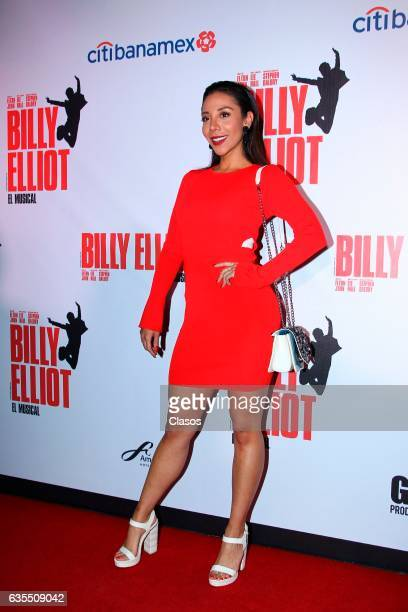 Michelle Gonzalez poses for the camera during the opening night of Billy Elliot Music Show on February 15 2017 in Mexico City Mexico