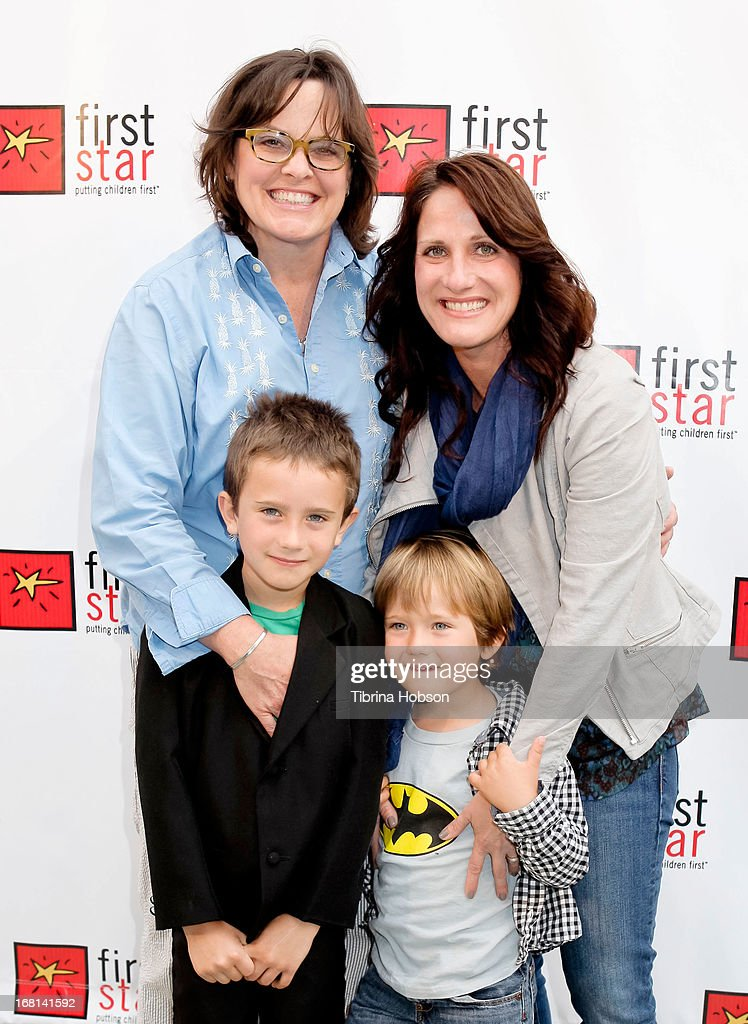 Michelle Hagen (R) and family attend the 9th annual First Star Celebration of children's rights at Skirball Cultural Center on May 5, 2013 in Los Angeles, California.