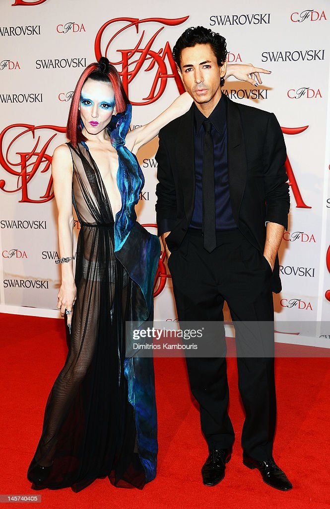 <a gi-track='captionPersonalityLinkClicked' href=/galleries/search?phrase=Michelle+Harper&family=editorial&specificpeople=4860960 ng-click='$event.stopPropagation()'>Michelle Harper</a> and designer Christian Cota attend the 2012 CFDA Fashion Awards at Alice Tully Hall on June 4, 2012 in New York City.