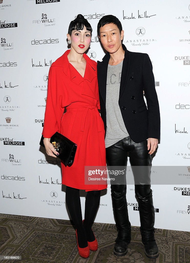 <a gi-track='captionPersonalityLinkClicked' href=/galleries/search?phrase=Michelle+Harper&family=editorial&specificpeople=4860960 ng-click='$event.stopPropagation()'>Michelle Harper</a> and model Jenny Shimizu attend the 'Dukes Of Melrose' Premiere at 583 Park Avenue on March 5, 2013 in New York City.