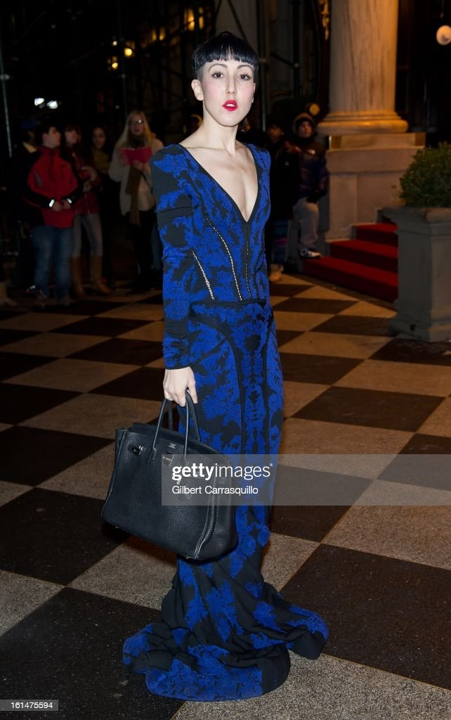 <a gi-track='captionPersonalityLinkClicked' href=/galleries/search?phrase=Michelle+Harper&family=editorial&specificpeople=4860960 ng-click='$event.stopPropagation()'>Michelle Harper</a> arrives at the Zac Posen Fall 2013 Mercedes-Benz Fashion Show at The Plaza Hotel on February 10, 2013 in New York City.