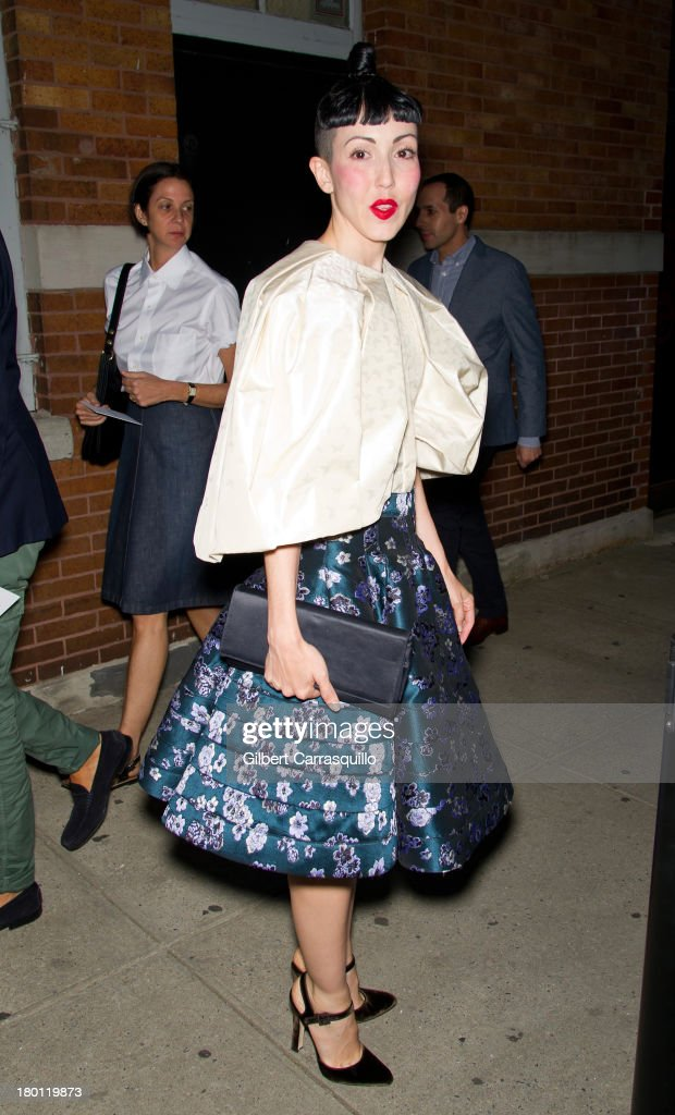 Michelle Harper attends 2014 Mercedes-Benz Fashion Week during day 4 on September 8, 2013 in New York City.